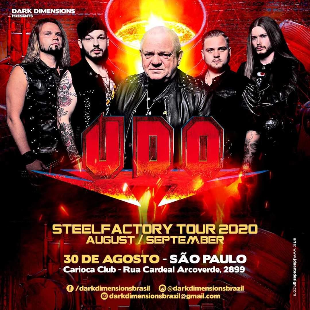 U.D.O: a alma do Accept confirma show em São Paulo dia 30 de Agosto no Carioca Club