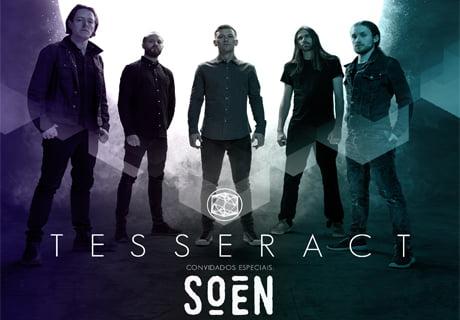 Tesseract e Soen juntos em única apresentação no Brasil.