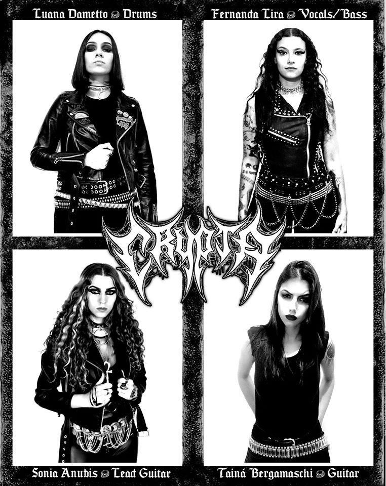 Crypta: nova banda das ex-integrantes da Nervosa