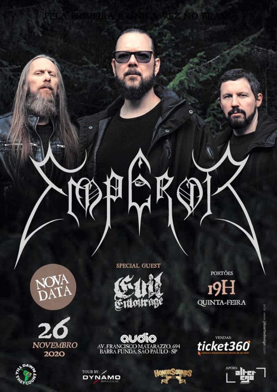 Lendária banda norueguesa Emperor fará show no Brasil em novembro