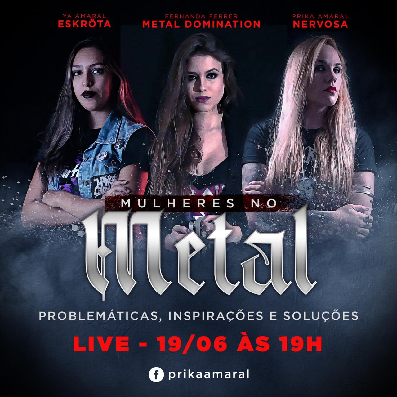"""Live """"Mulheres no Metal"""" estreia nesta sexta"""