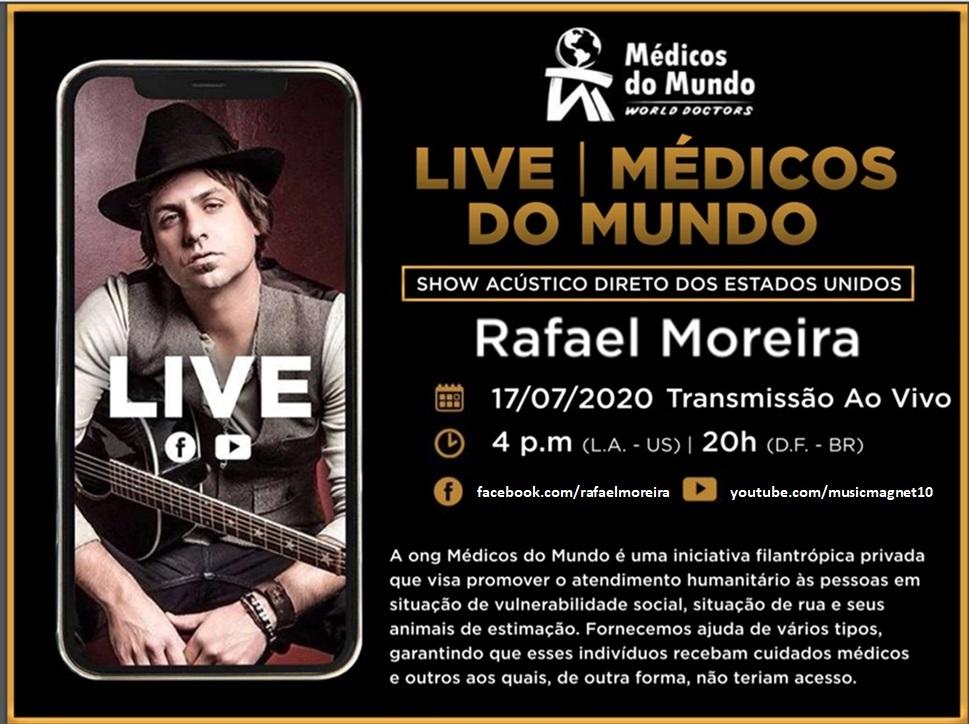 ONG Médicos Do Mundo promove live com guitarrista brasileiro radicado no exterior