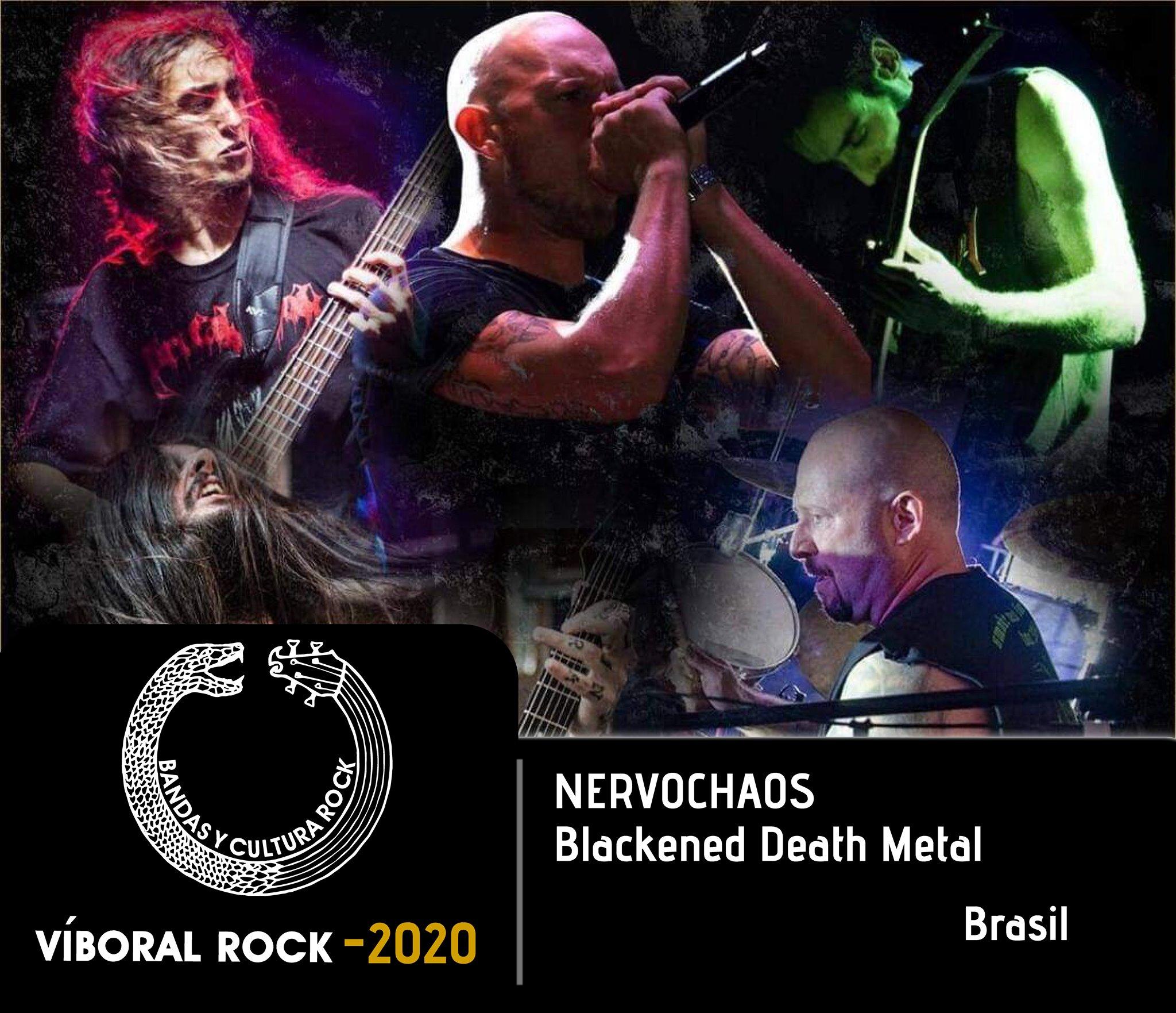 NervoChaos faz show online especial no 'Festival Internacional Víboral Rock' da Colômbia no próximo sábado