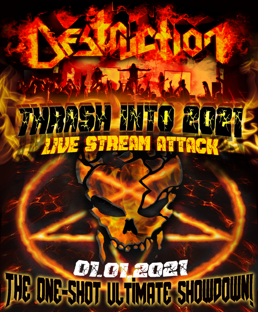 Flyer DESTRUCTION LIVE