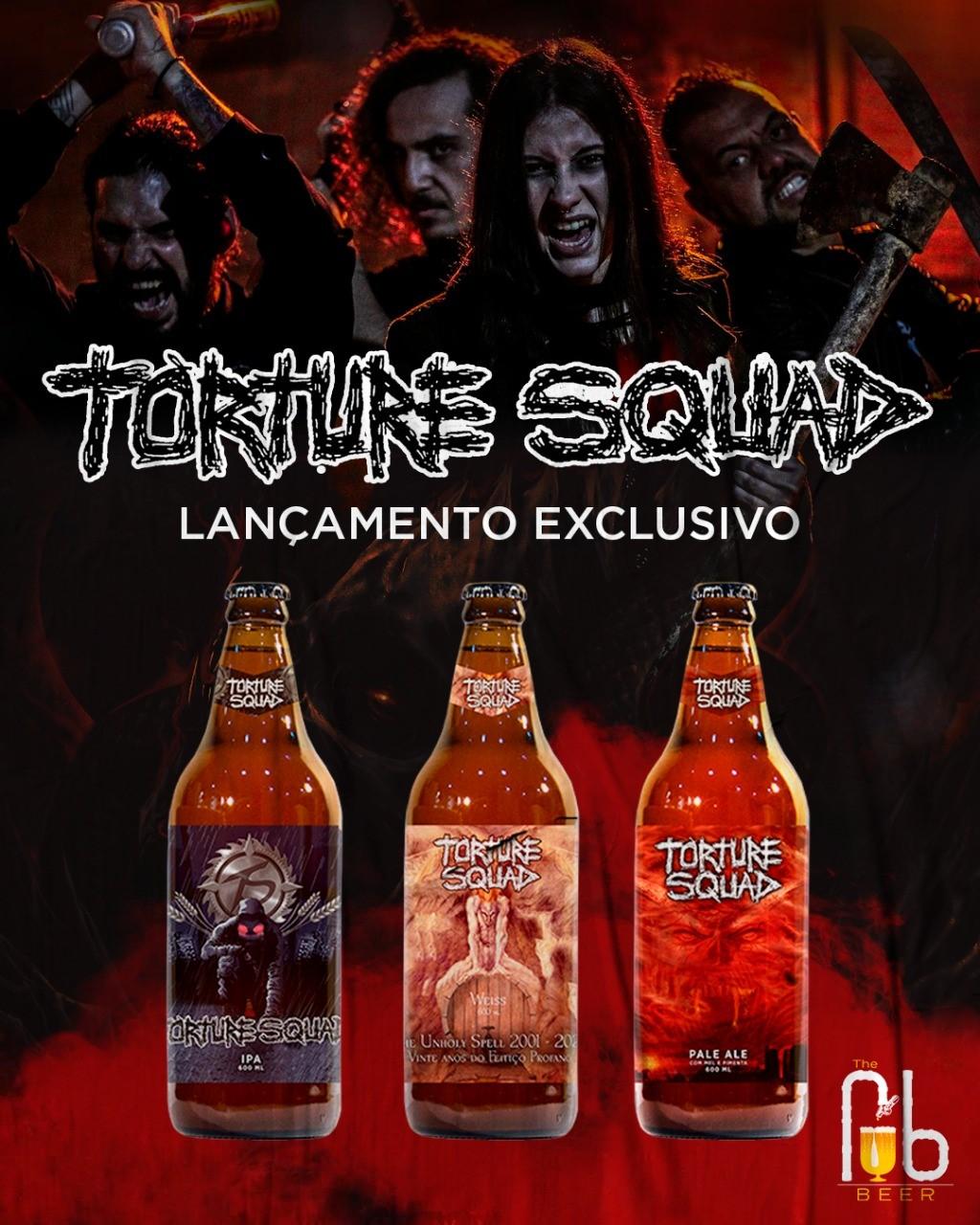 Torture Squad e The Pub Beer se juntam e lançam três cervejas exclusivas