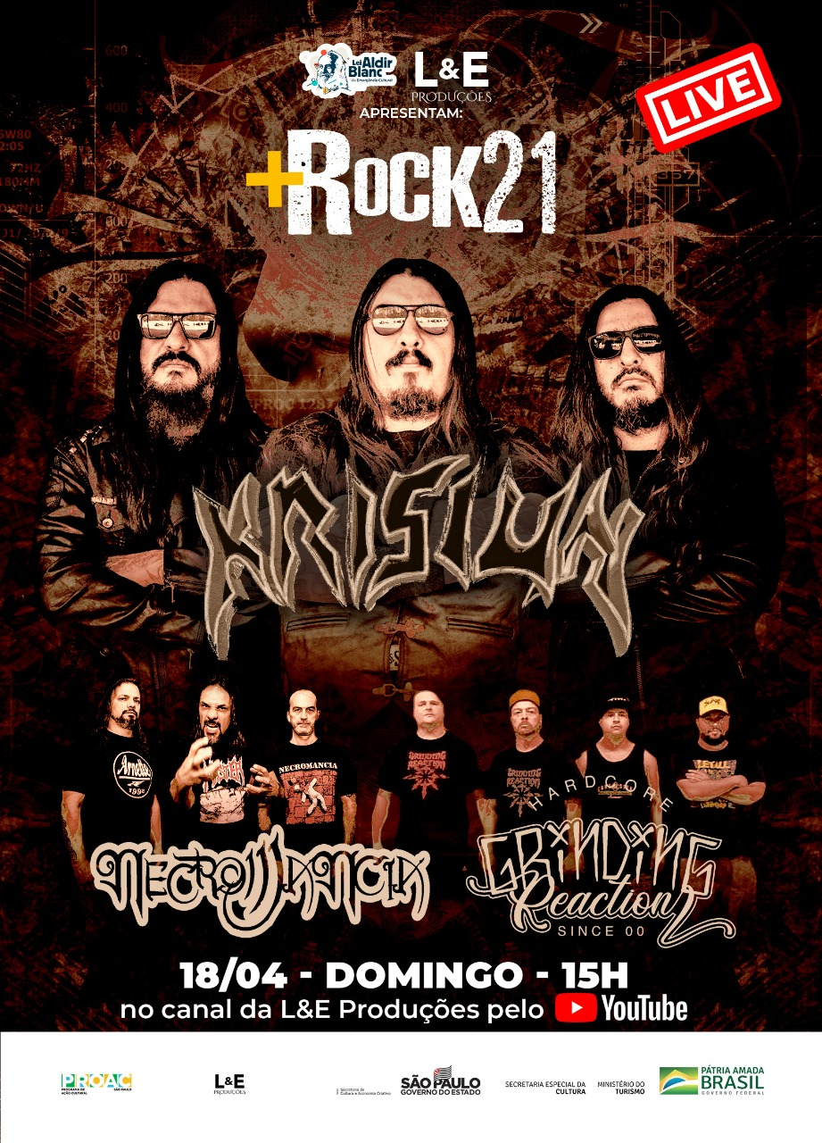+Rock 21: Neste domingo acontece a terceira parte do Festival  com Krisiun, Necromancia e Grinding Reaction