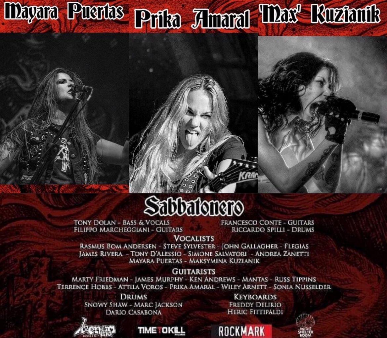 """Sabbatonero estreia versão de """"Killing Yourself to Live"""" do Black Sabbath com Prika Amaral e May Puertas"""