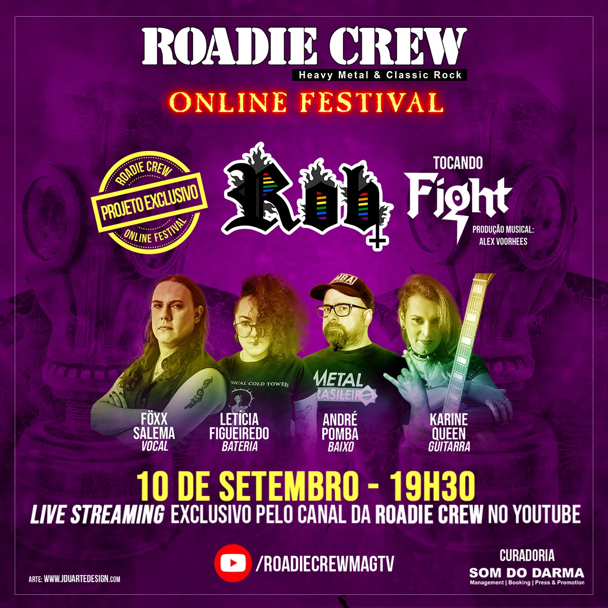 "Read more about the article Föxx Salema: Participando do projeto ""Rob"" no Roadie Crew Online Festival"